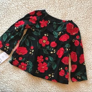 Carter's Shirts & Tops - Carter's Black Floral Long Sleeve Top NWT 18M